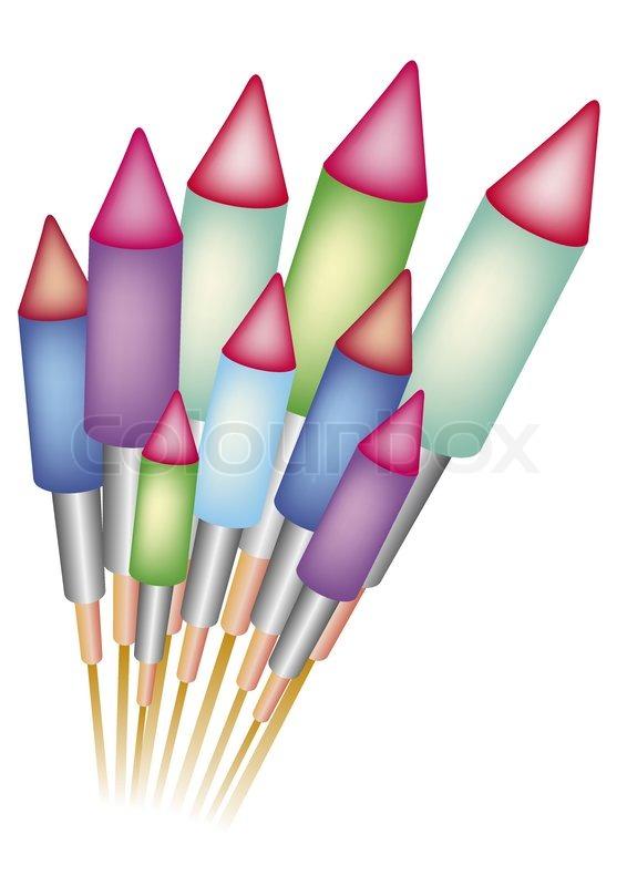 566x800 Happy New Year Rockets Stock Vector Colourbox