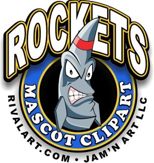 306x325 Rockets Clipart Logo