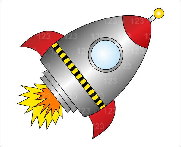 Free Download Best Rocketship Clipart