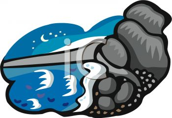 350x239 Water Rocks Clipart