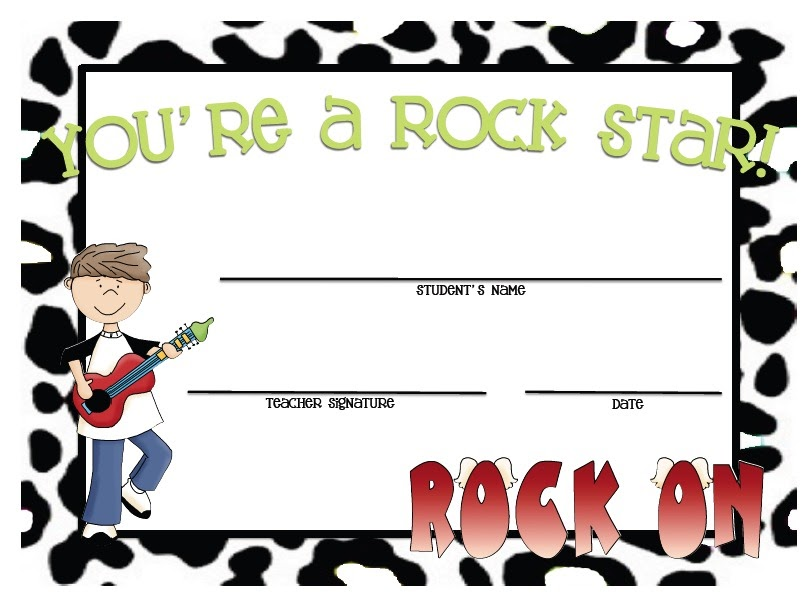 812x612 Rock Star Certificates! Creating Amp Teaching