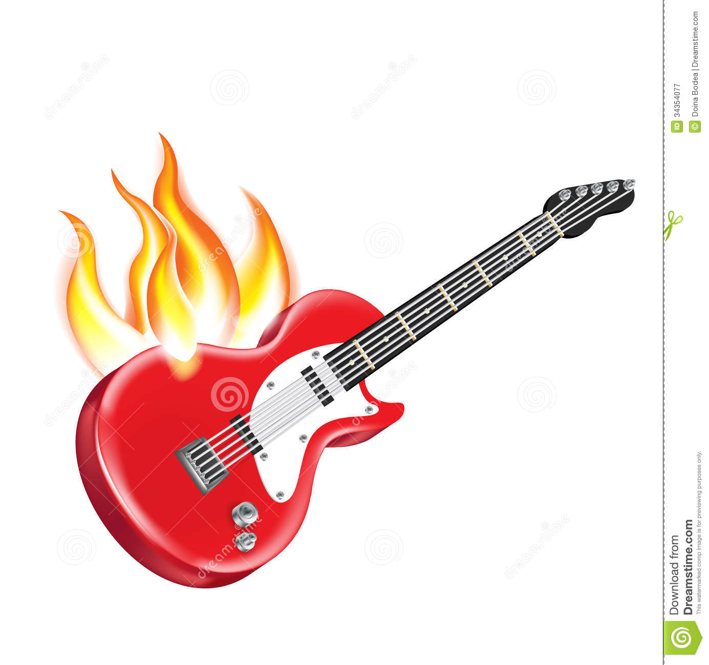 1385x1300 Guitar clipart on fire
