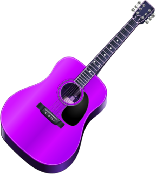 600x666 Purple Guitar Clipart