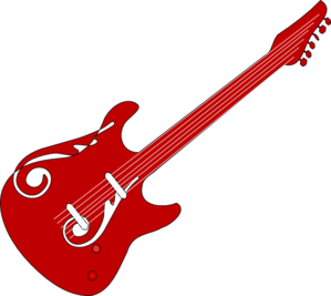 299x267 Red Guitar Clipart