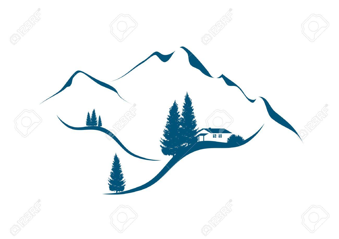 1300x918 Rocky Mountain Landscape Clip Art Cliparts
