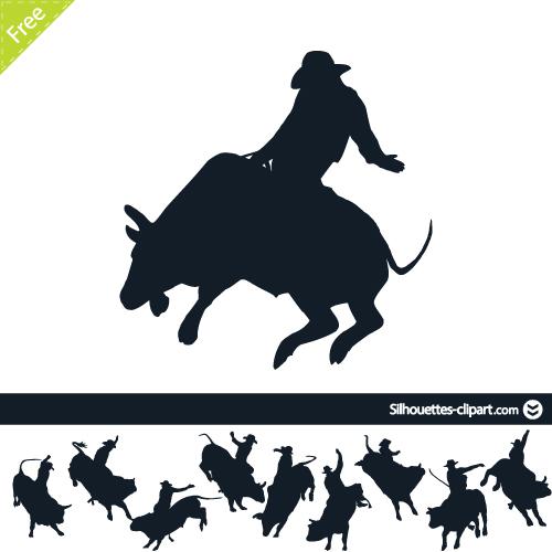 500x500 Bulls Clipart Silhouette