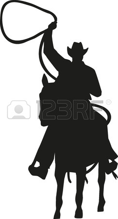 243x450 Cowboy Talking To His Horse Silhouette Royalty Free Cliparts