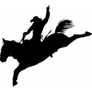 320x320 Rodeo Silhouette Clip Art