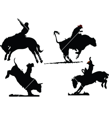380x400 Rodeo Silhouettes Vector 93239