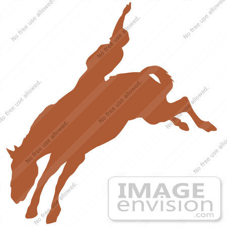 450x450 Royalty Free Cartoon Clip Art Of A Brown Silhouette Of A Cowboy