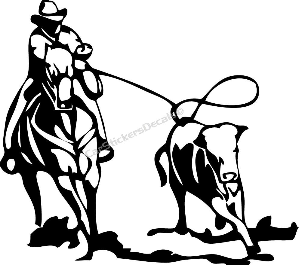 994x882 Team Roping Clipart Images