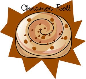 300x274 Cinnamon Roll Clipart Image