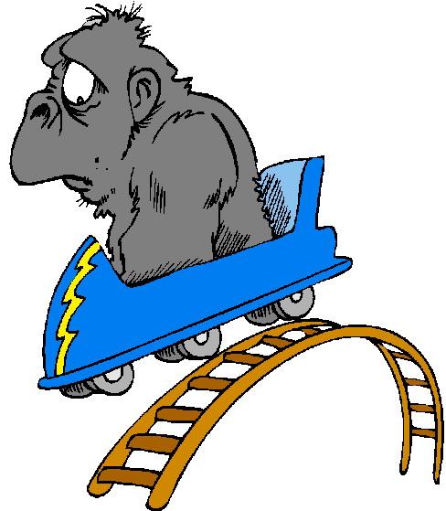 488x559 Cartoon Clipart Roller Coaster
