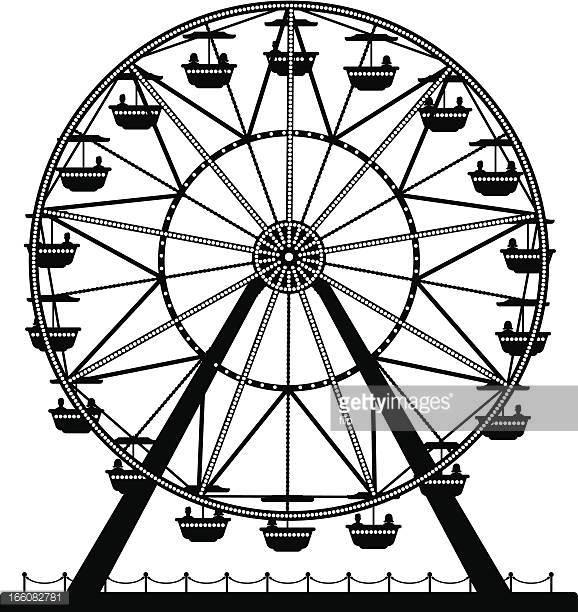 578x612 Ferris Wheel Clipart Black And White