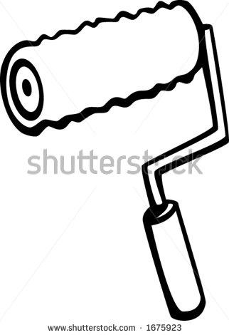 322x470 Paint Roller Clipart