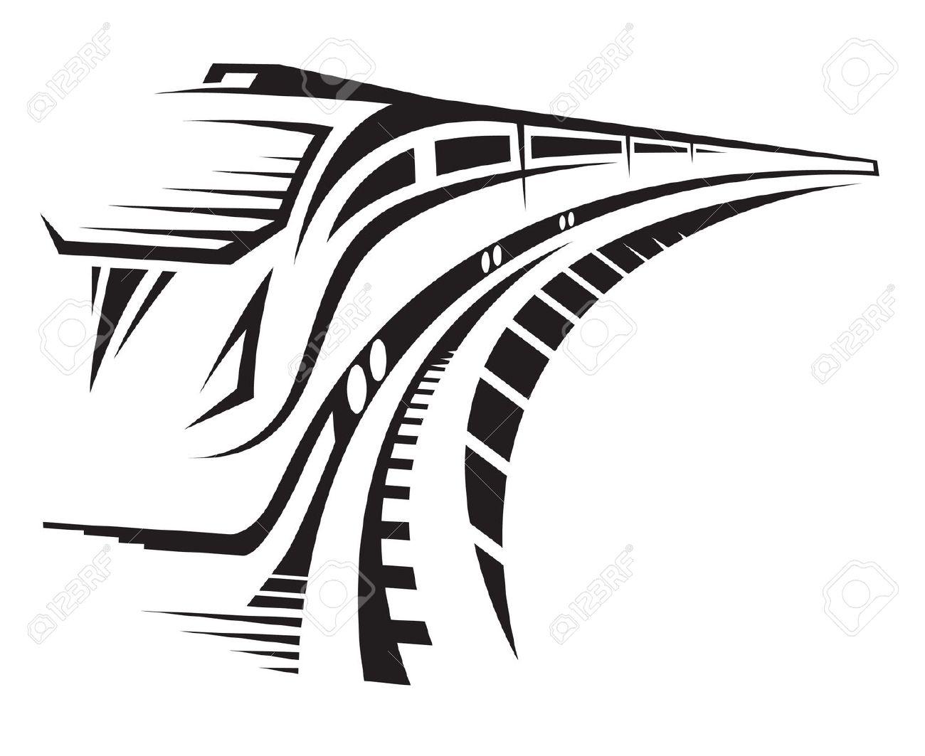 1300x1063 Rails Clipart Black And White