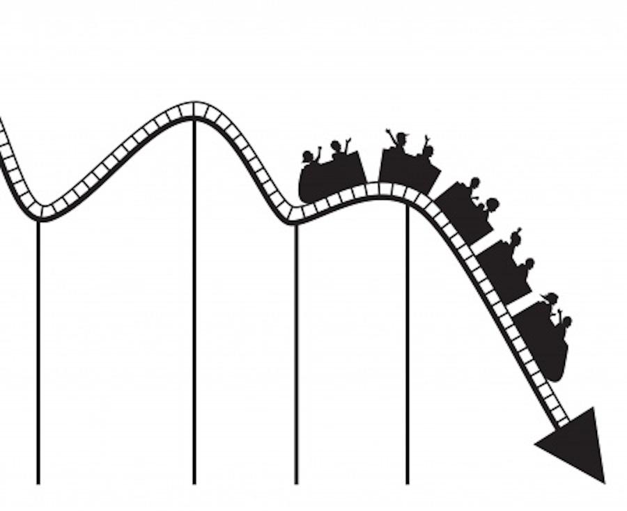 900x734 Roller Coaster Stock Market Clipart
