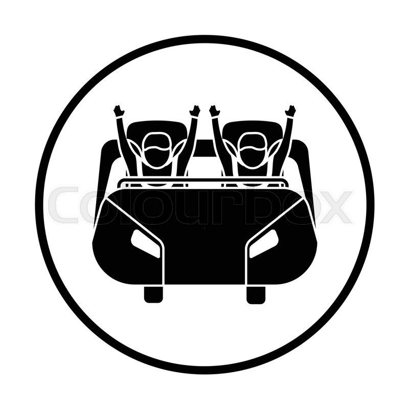 800x800 Roller Coaster Cart Icon. Thin Circle Design. Vector Illustration