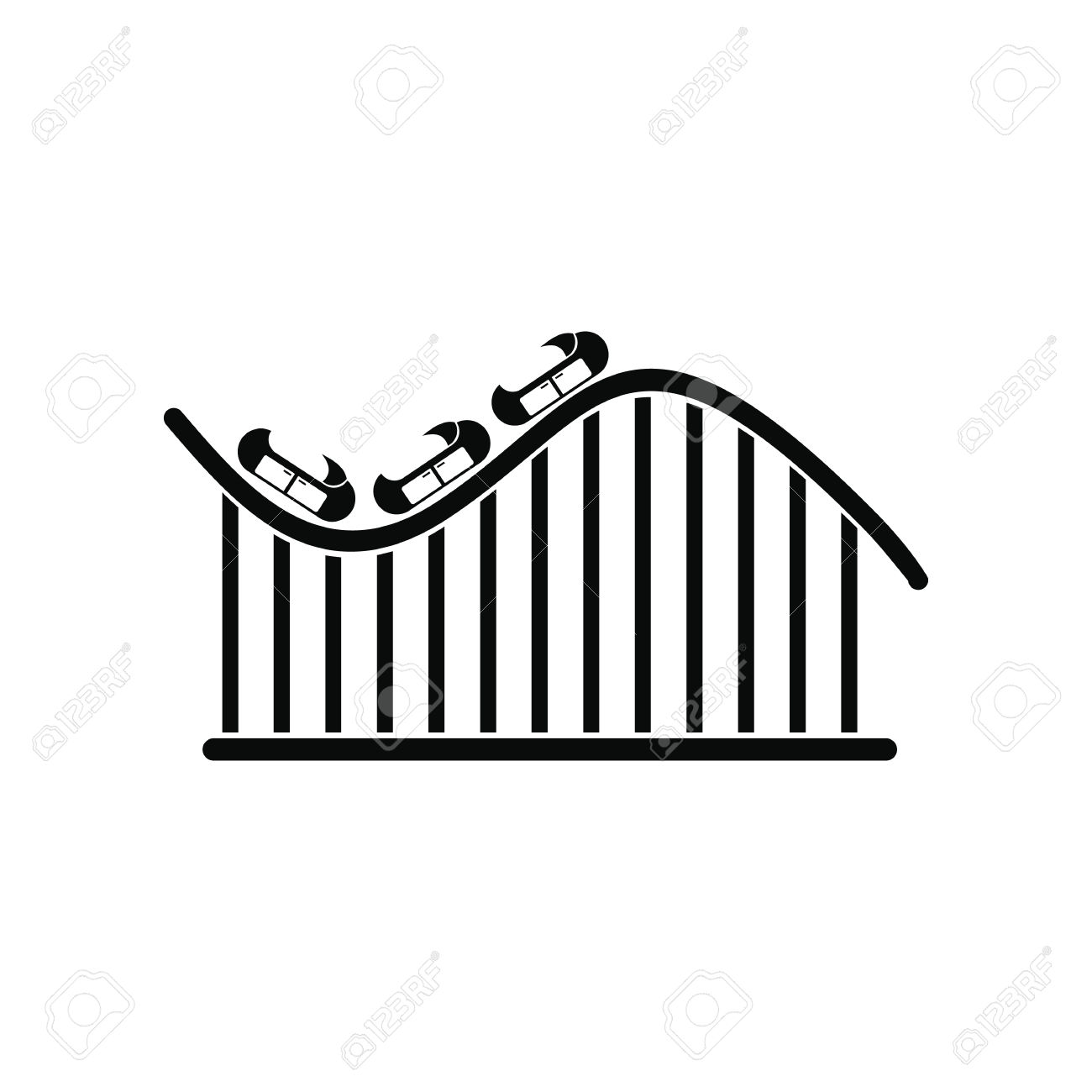 1300x1300 Simple Clipart Roller Coaster