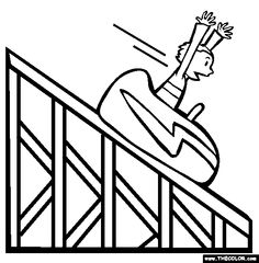236x240 Simple Roller Coaster Clipart