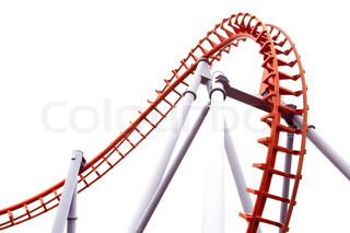 320x213 The Roller Coaster Isolated On White Background. Stock Photo