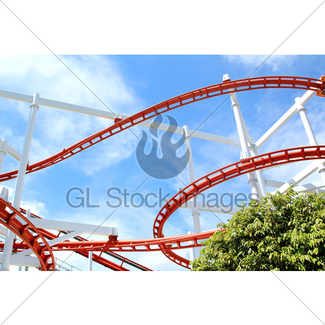 325x325 Wooden Roller Coaster Support Beams Gl Stock Images
