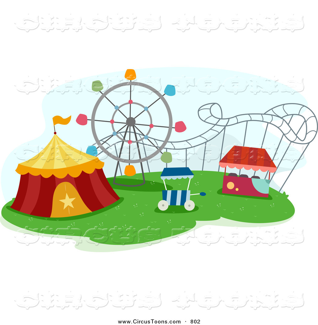 1024x1044 Circus Clipart Of A Big Top Tent And Roller Coaster In A Theme