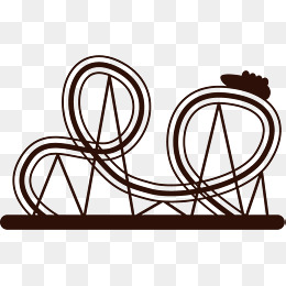 260x260 Cartoon Roller Coaster Tracks, Cartoon, Roller Coaster, Track Png