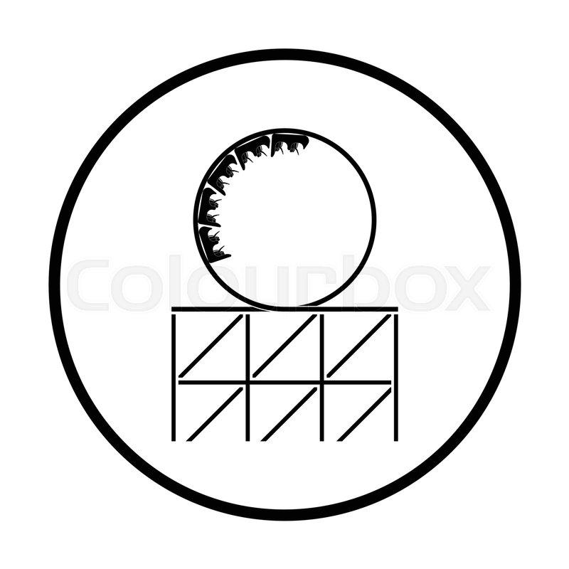 800x800 Roller Coaster Loop Icon. Thin Circle Design. Vector Illustration