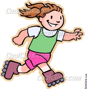 Girl Skateboard Clipart