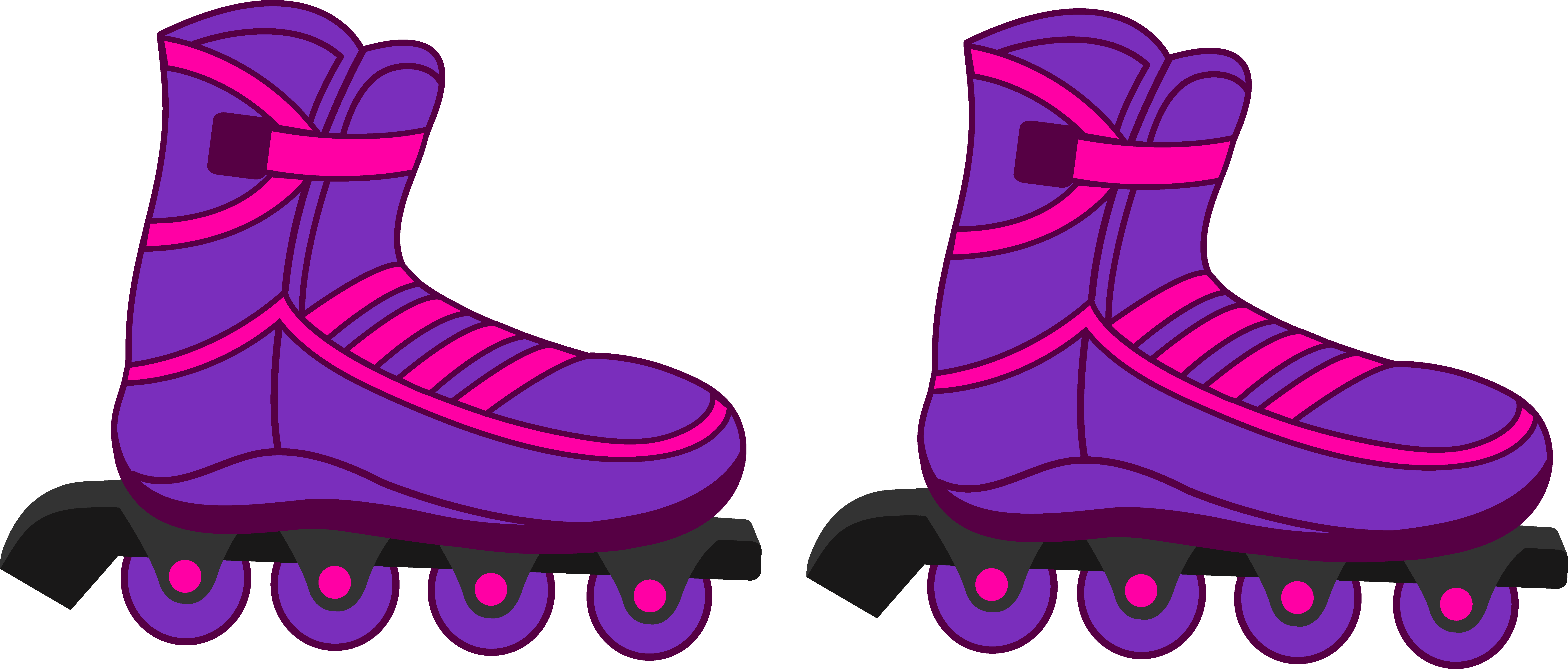 8285x3534 Figurine Clipart Roller Skating