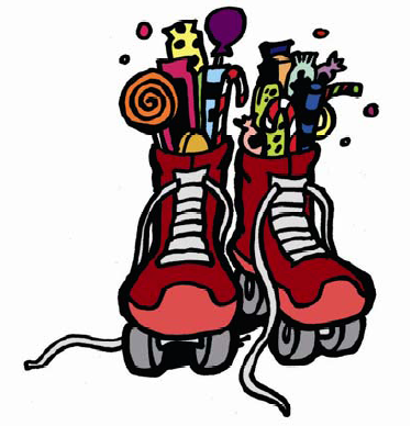 374x388 Pair Roller Skates Clipart
