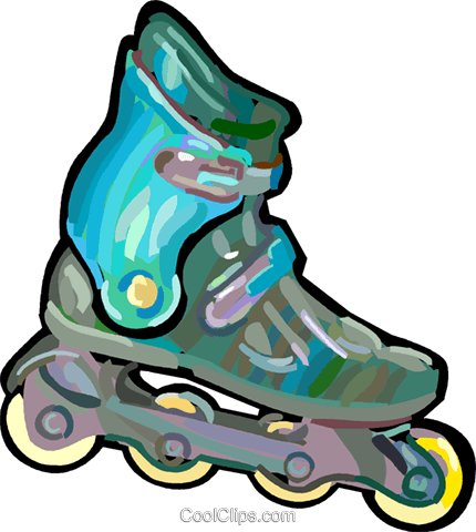 430x480 Rollerblades Royalty Free Vector Clip Art Illustration Vc048272