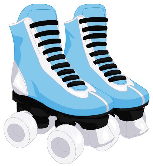 491x534 Blur Clipart Roller Skate