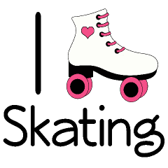 240x240 Roller Skate Party Clip Art