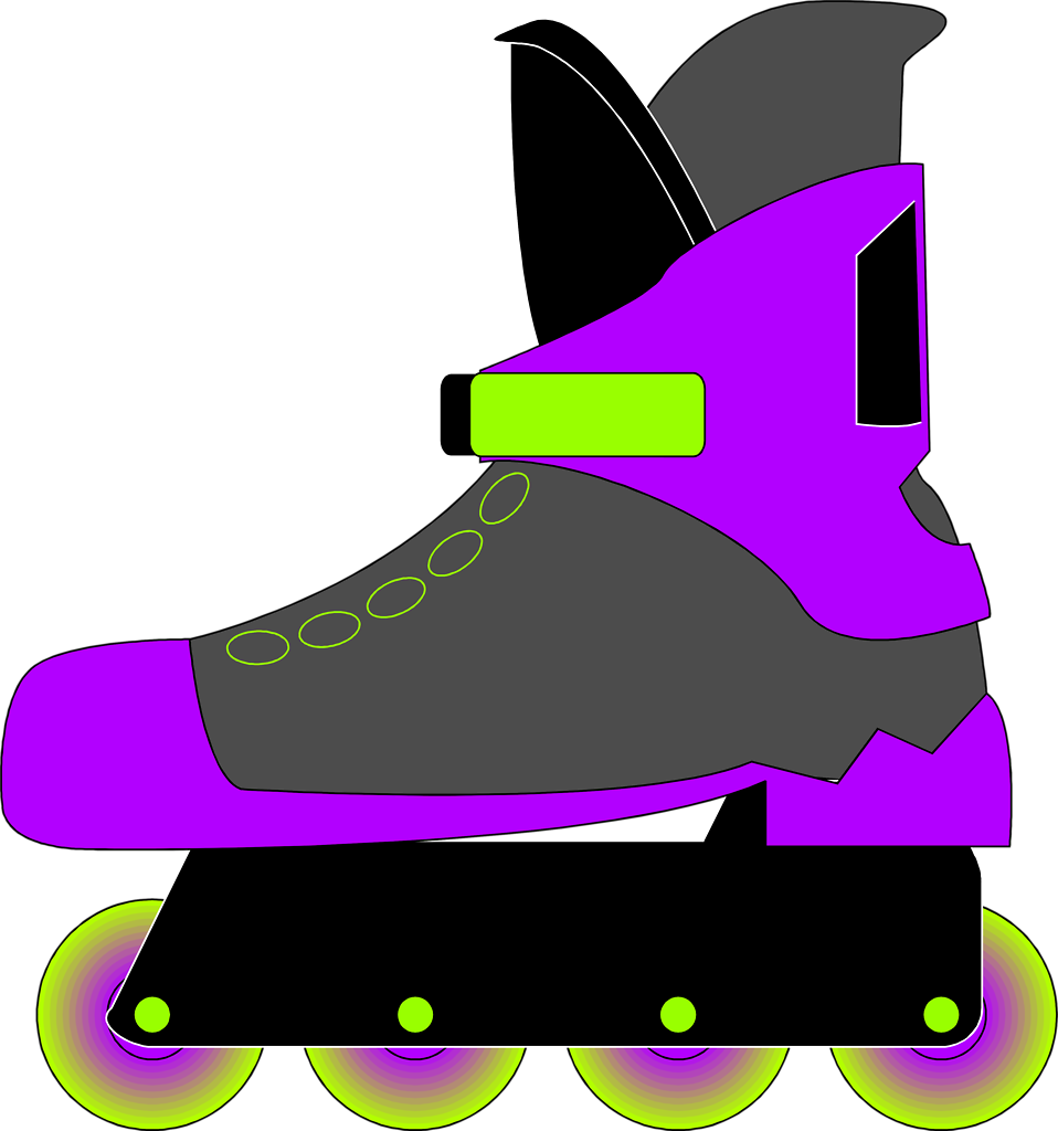 958x1024 Rollerblade Free Stock Photo Illustration Of A Rollerblade