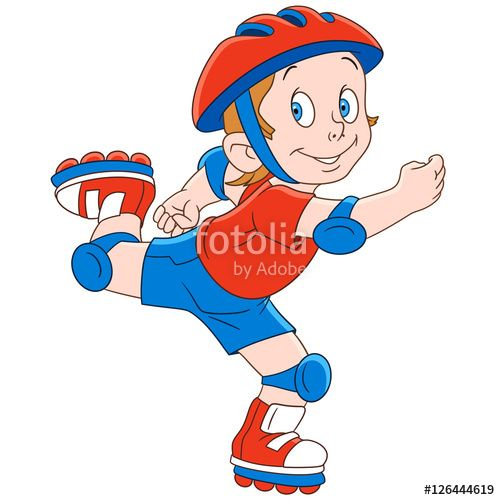 500x500 Boy Clipart Roller Skating