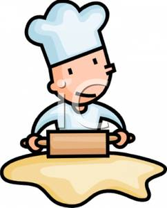 242x300 Art Image A Chef With A Rolling Pin