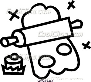 300x270 Rolling Pin And Cookie Cutter Vector Clip Art