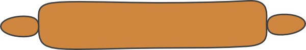 600x98 Brown Rolling Pin Clip Art