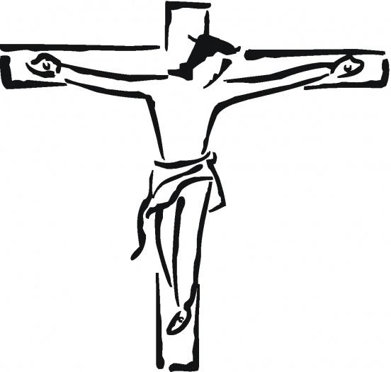 552x525 Crucifix Black And White Clipart