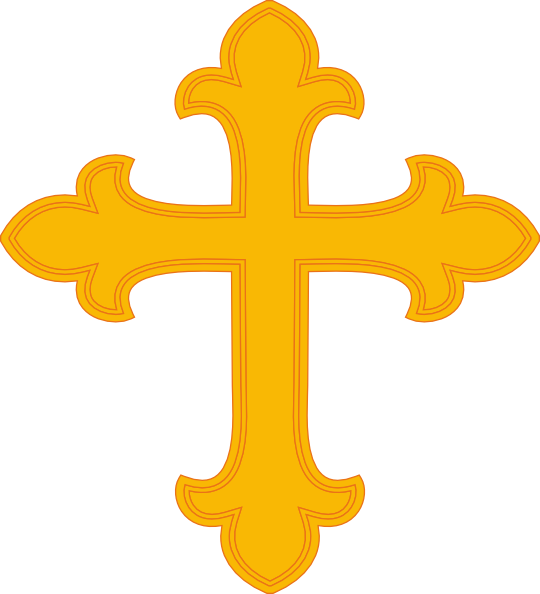 540x594 Gold Cross 1 Clip Art