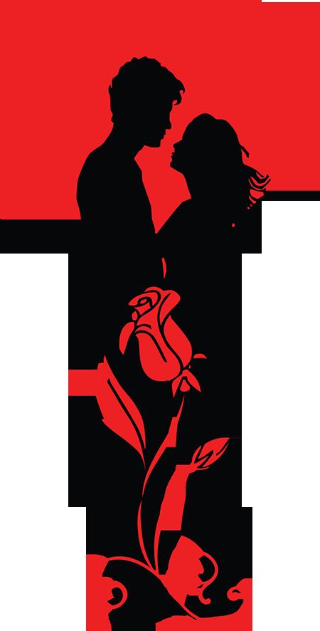 450x886 Romantic Couple Silhouette Clip Art