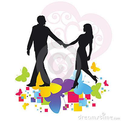 400x400 Romantic Stroll Clip Art Cliparts