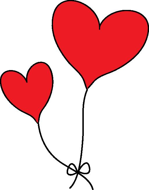 512x651 Romantic Clipart Double Heart