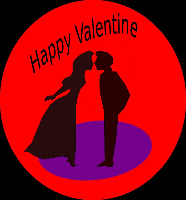 746x800 Romantic Clipart Valentine Couple