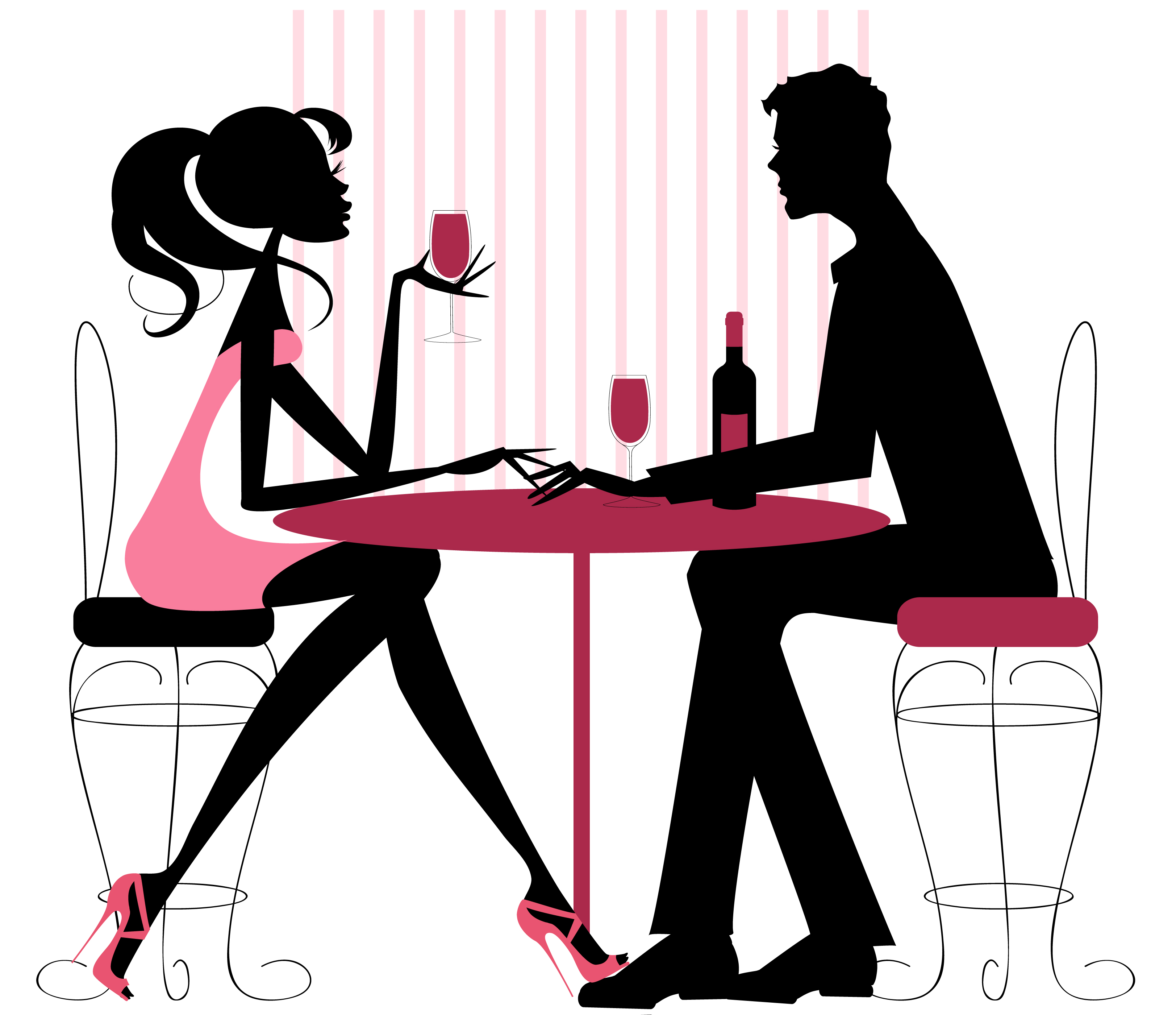 3246x2800 Romantic Clipart First Date