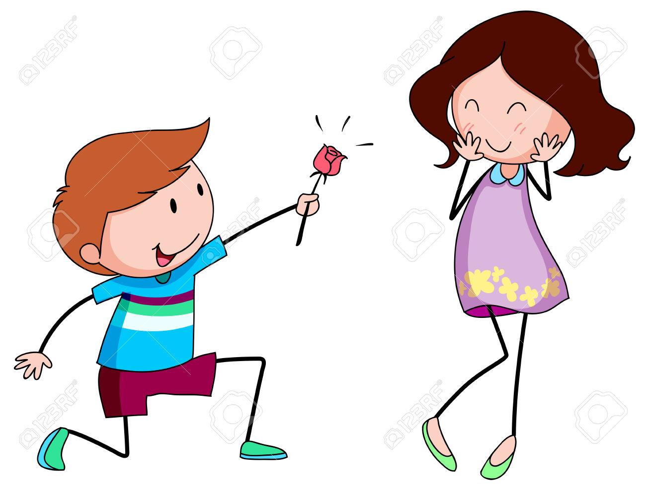 1300x992 Romantic Clipart Girlfriend