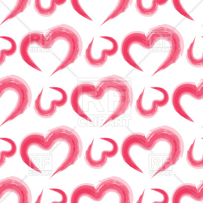 400x400 Romantic Seamless Pattern With Pink Watercolor Imitation Hearts
