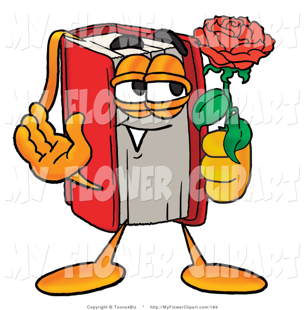 1024x1044 Cliprt Of Romantic Red Book Mascot Cartoon Character Holding